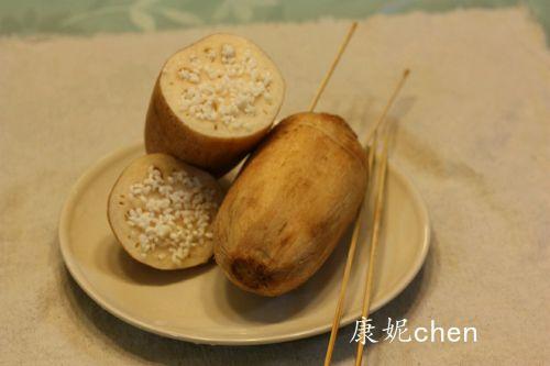 红糖桂花糯米藕的做法图解4