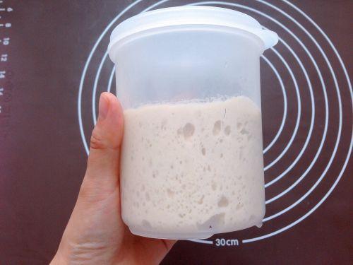 红豆核桃麻薯面包的做法图解1