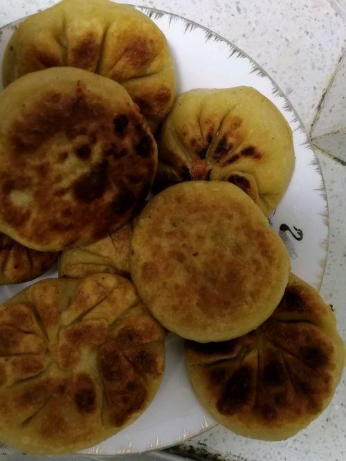 桂花苹果柿子饼的做法图解3