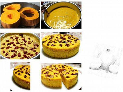 健康美味南瓜红枣发糕的做法图解2