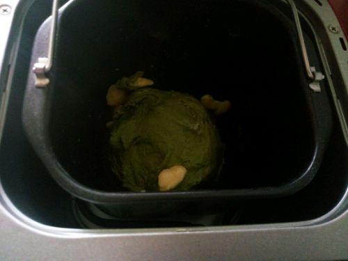 抹茶红豆包的做法图解3