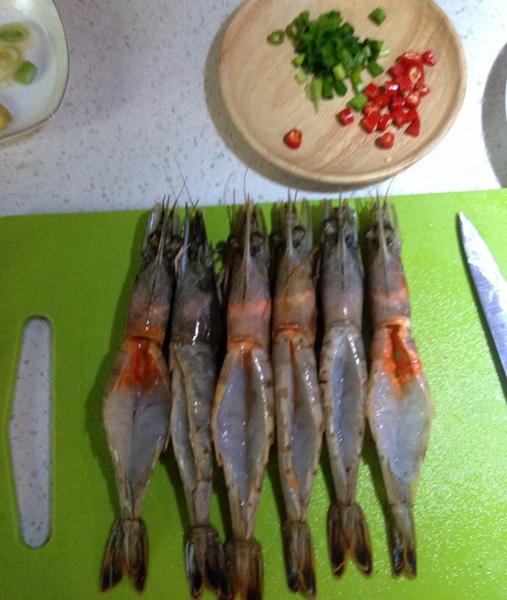 美味开背虾