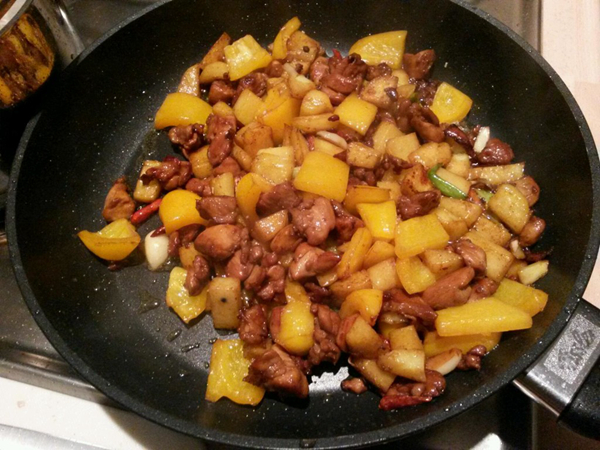 麻辣干锅鸡的做法瘦肉金针菇干贝图片