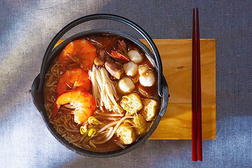 鲜虾金针菇沙茶荞麦面
