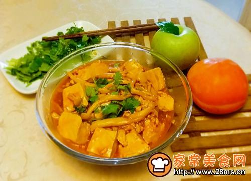 白玉菇焖豆腐的做法图解7