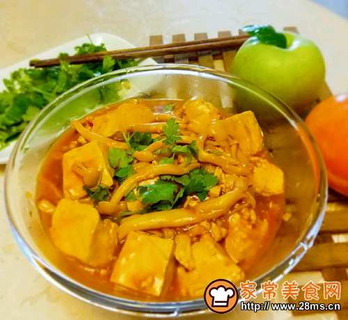 白玉菇焖豆腐的做法图解8
