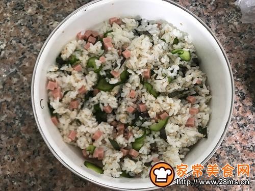 日式饭团-紫苏叶火腿饭团的做法图解5