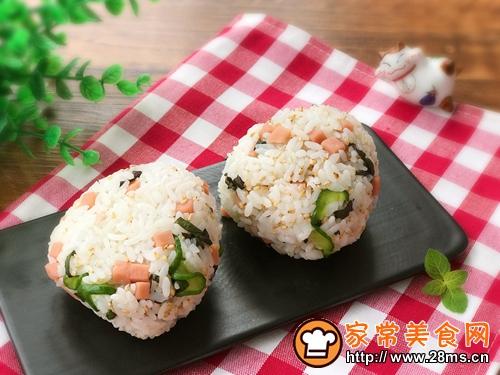 日式饭团-紫苏叶火腿饭团的做法图解9