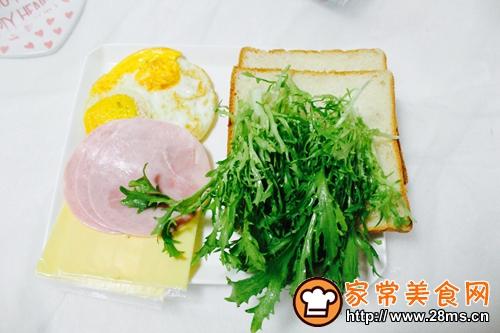 蔬菜三明治的做法图解3