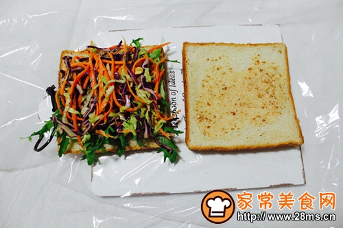 蔬菜三明治的做法图解6