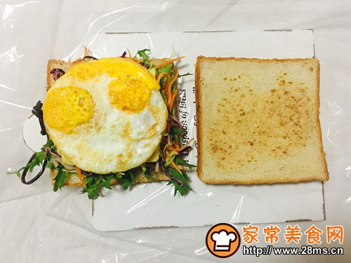 蔬菜三明治的做法图解9