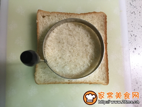 儿童早餐—兔子玉米火腿三明治的做法图解2