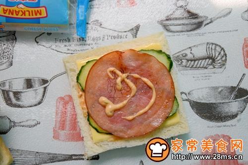 芝士火腿三明治的做法图解5