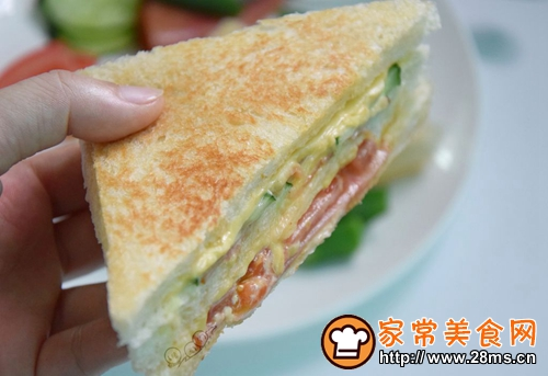 芝士火腿三明治的做法图解8