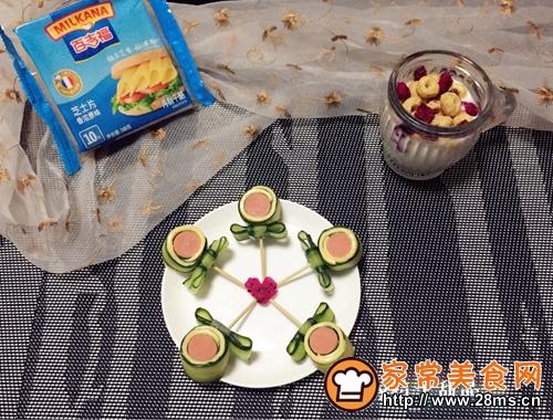 芝士黄瓜卷棒棒糖的做法图解10