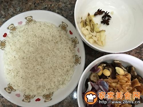 广东名菜-菜胆八宝扒鸭的做法图解3