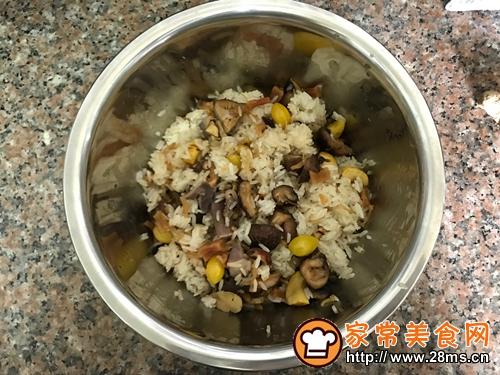 广东名菜-菜胆八宝扒鸭的做法图解5