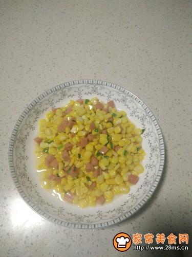 火腿肠炒玉米的做法图解10