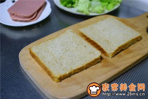 火腿三明治的做法图解2