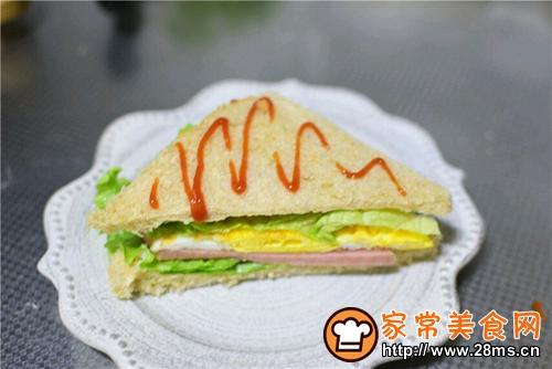 火腿三明治的做法图解11