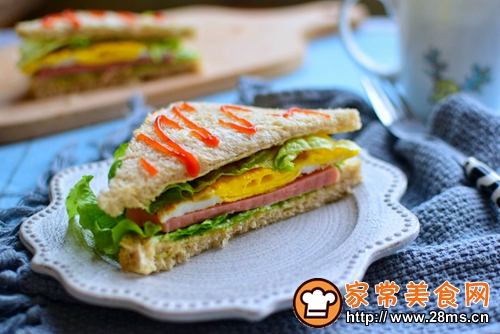 火腿三明治的做法图解12