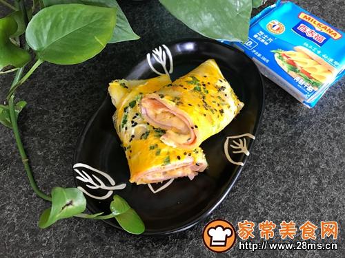 芝士鸡蛋煎饼的做法图解7