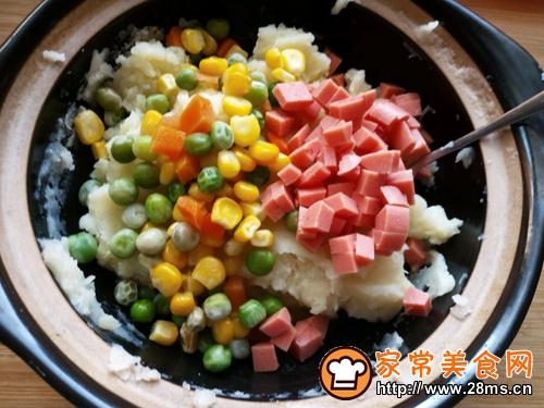 彩蔬土豆饼的做法图解4