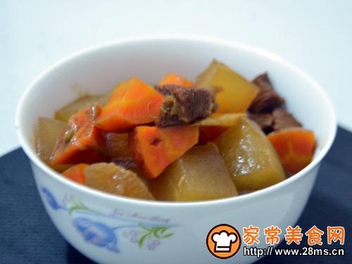 胡萝卜冬瓜烧牛肉的做法图解6