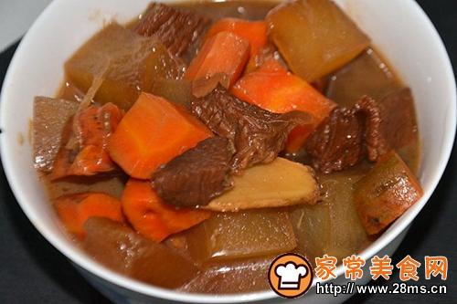 胡萝卜冬瓜烧牛肉
