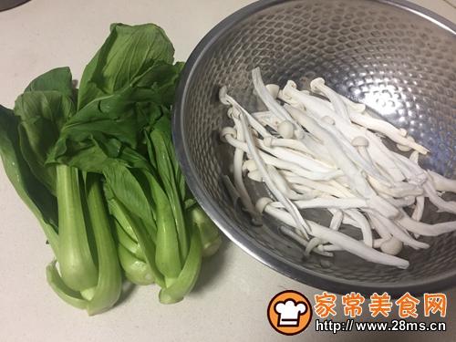 鸡丝菌菇青菜粥的做法图解10
