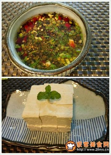 自制白豆腐蘸自制酱汁的做法图解4