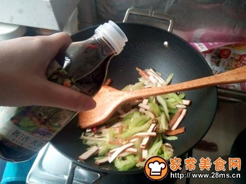 #菁选酱油试用西芹豆干的做法图解7