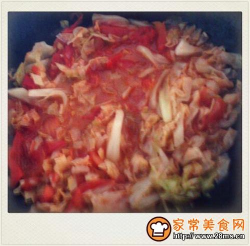 西红柿炒圆白菜的家常做法