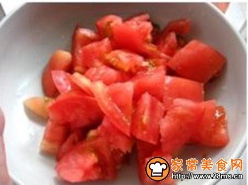 西红柿炒菜花的做法图解3