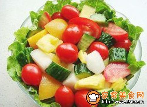 缤纷果蔬沙拉的做法图解3
