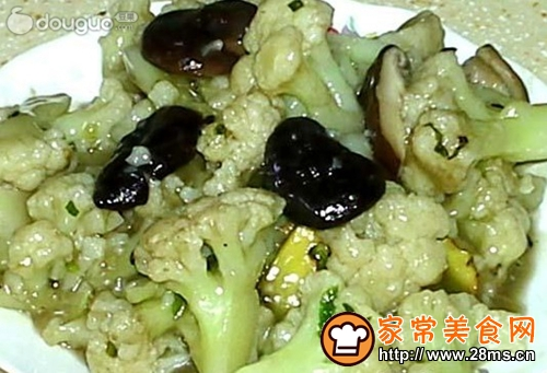 香菇烧菜花的家常做法