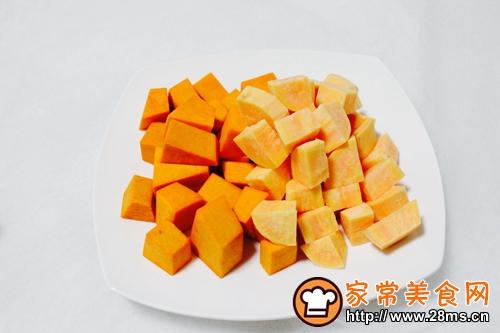 南瓜红薯粥的做法图解1