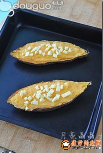 芝士奶油焗红薯的做法图解5