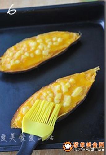 芝士奶油焗红薯的做法图解6