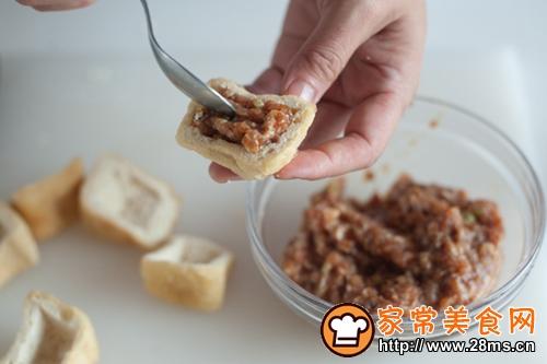 油豆腐塞肉的做法图解3