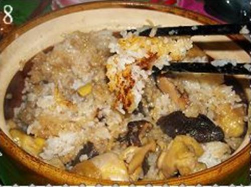 香菇滑鸡煲仔饭的做法图解8