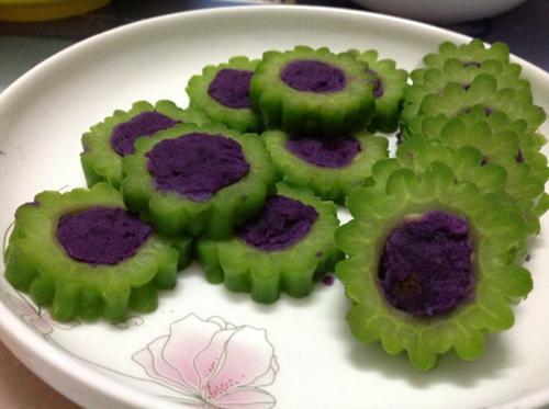 紫薯苦瓜圈的做法图解4