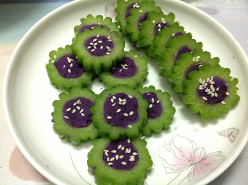 紫薯苦瓜圈的做法图解5