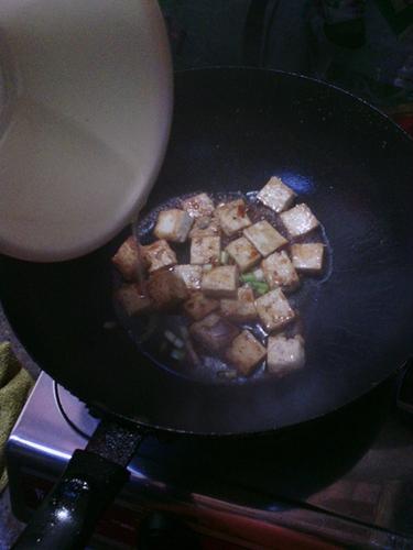 香煎豆腐的做法图解7