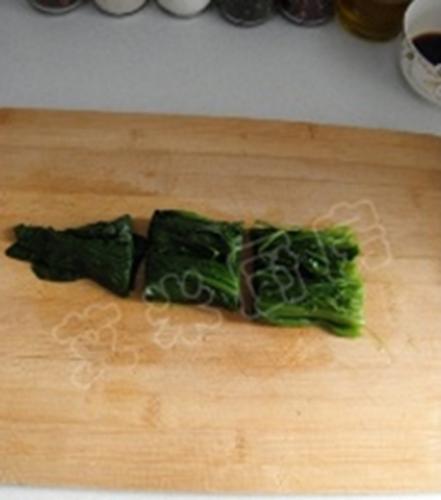 姜蒜香汁菠菜的做法图解7