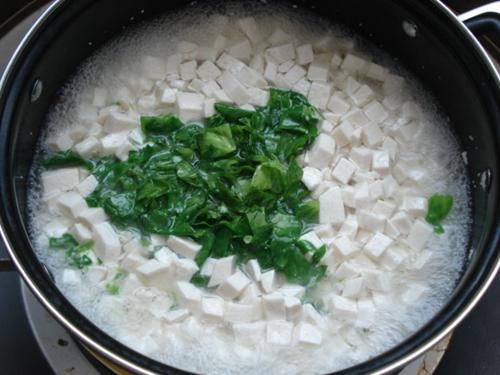 豌豆头豆腐羹的做法图解4