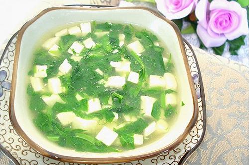 豌豆头豆腐羹