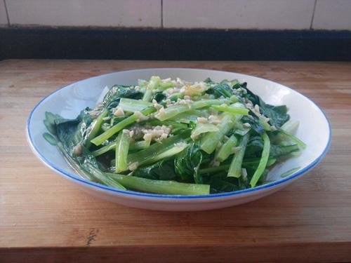 蒜蓉油菜的做法图解4