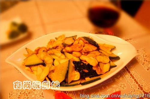 清炒鸡腿菇黄瓜片