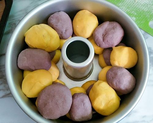 南瓜紫薯双色发糕的做法图解11